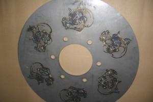 Laser Cut Custom Designed Wheel Centers